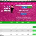 Bobs Bingo Bonus No Deposit