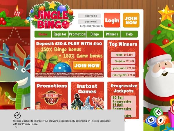 Jingle Bingo Playtech