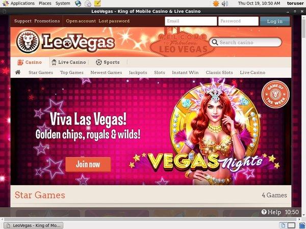 Make Leo Vegas Account