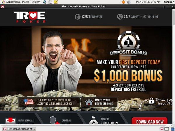 True Poker Offers Today