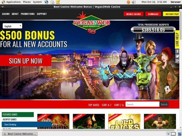 Vegas2web Limited Bonus