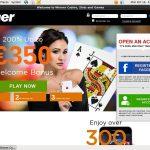 Winner Casino Conto