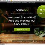 Comeon Register
