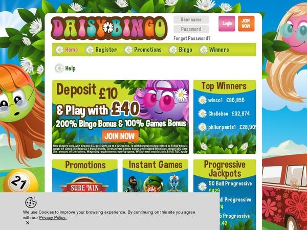 Daisy Bingo Best Gambling Offers