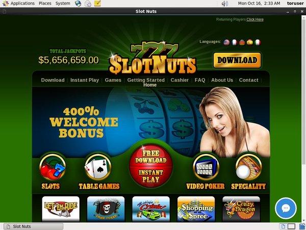 Slot Nuts Minimum Deposit