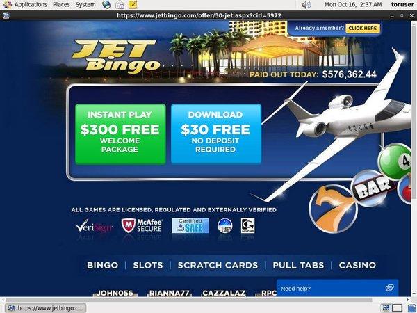 Jetbingo Casino Deposit