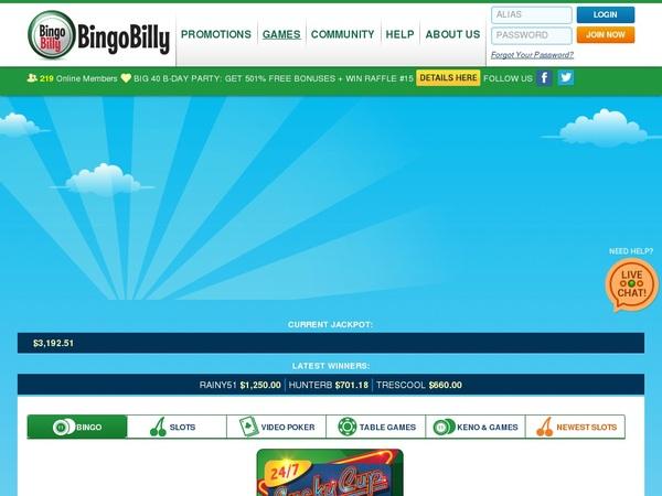 Bingobilly Odds