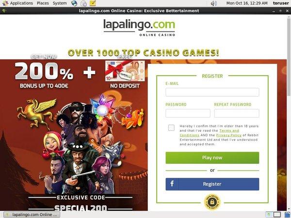 Lapalingo Betting Offers