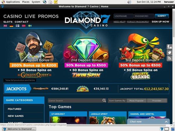 Diamond7 Odds To Win