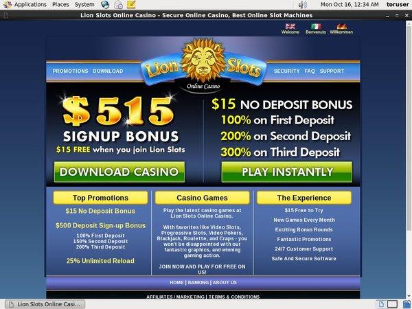 Lionslots E Wallet