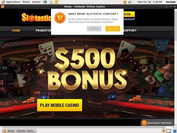 Slotastic! No Deposit Bonus 2017