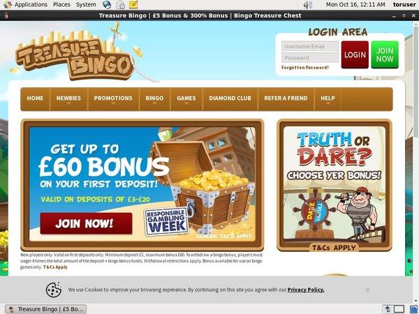 Treasure Bingo Real Casino