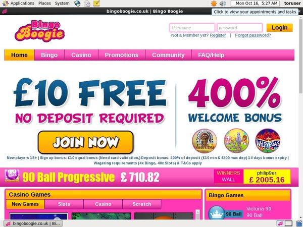 Bingo Boogie Casino Test