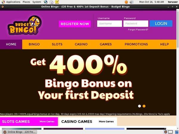 Budgetbingo Sign Up Offer