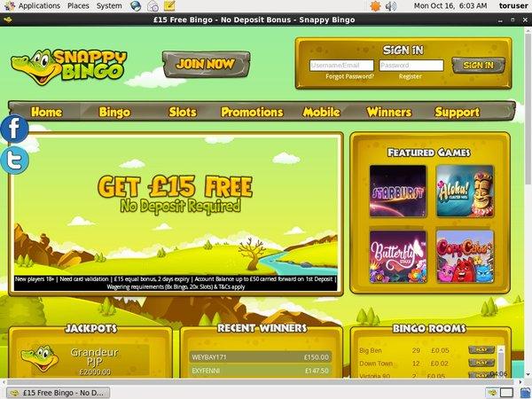 Snappybingo Online Casino Sites