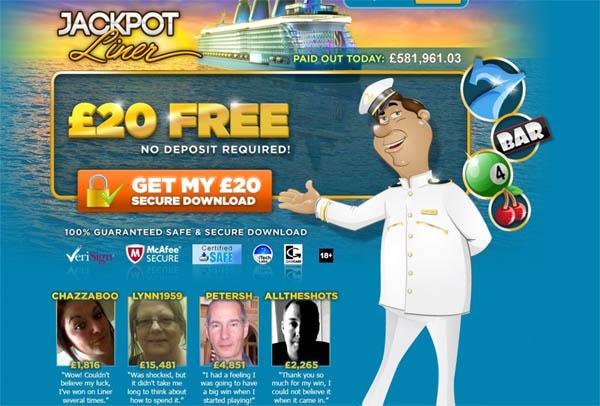 Jackpot Liner UK Site