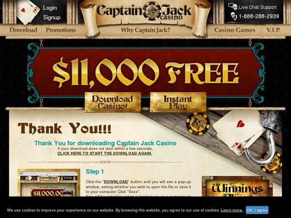 Captain Jack Casino Enter Cash