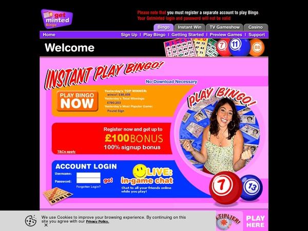 Get Minted Bingo Registar