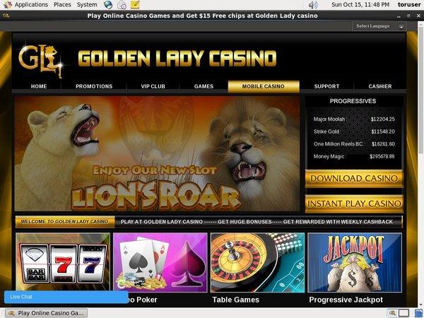 Golden Lady Casino Telephone Betting
