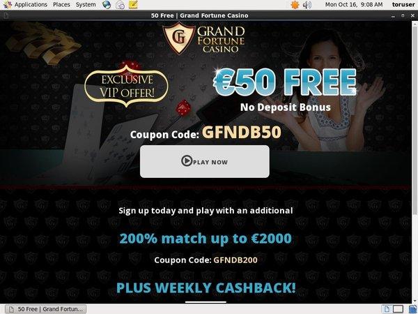 Grandfortune Promotion Code